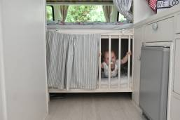 Bottom bunk turns into a baby cot